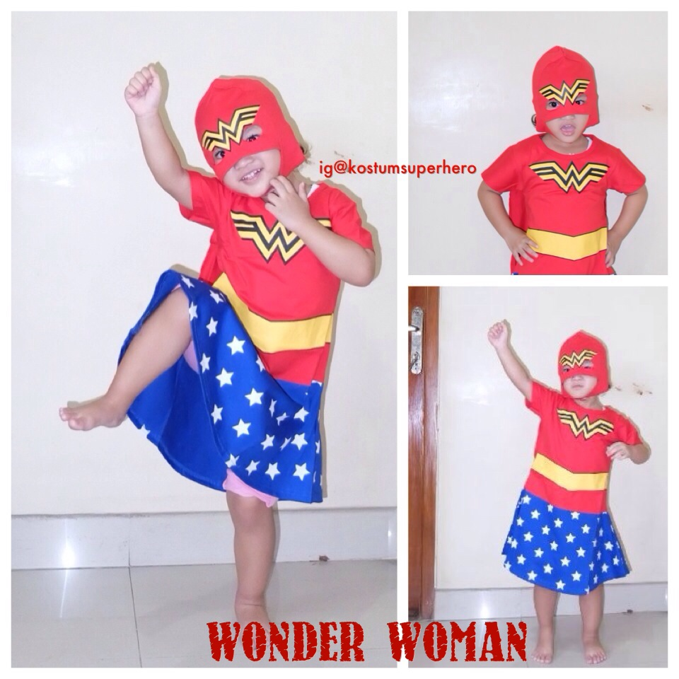 kostum anak wonder woman