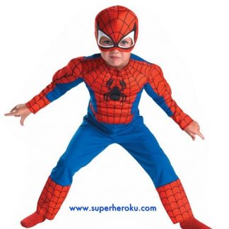 Kostum anak superhero Spiderman Import