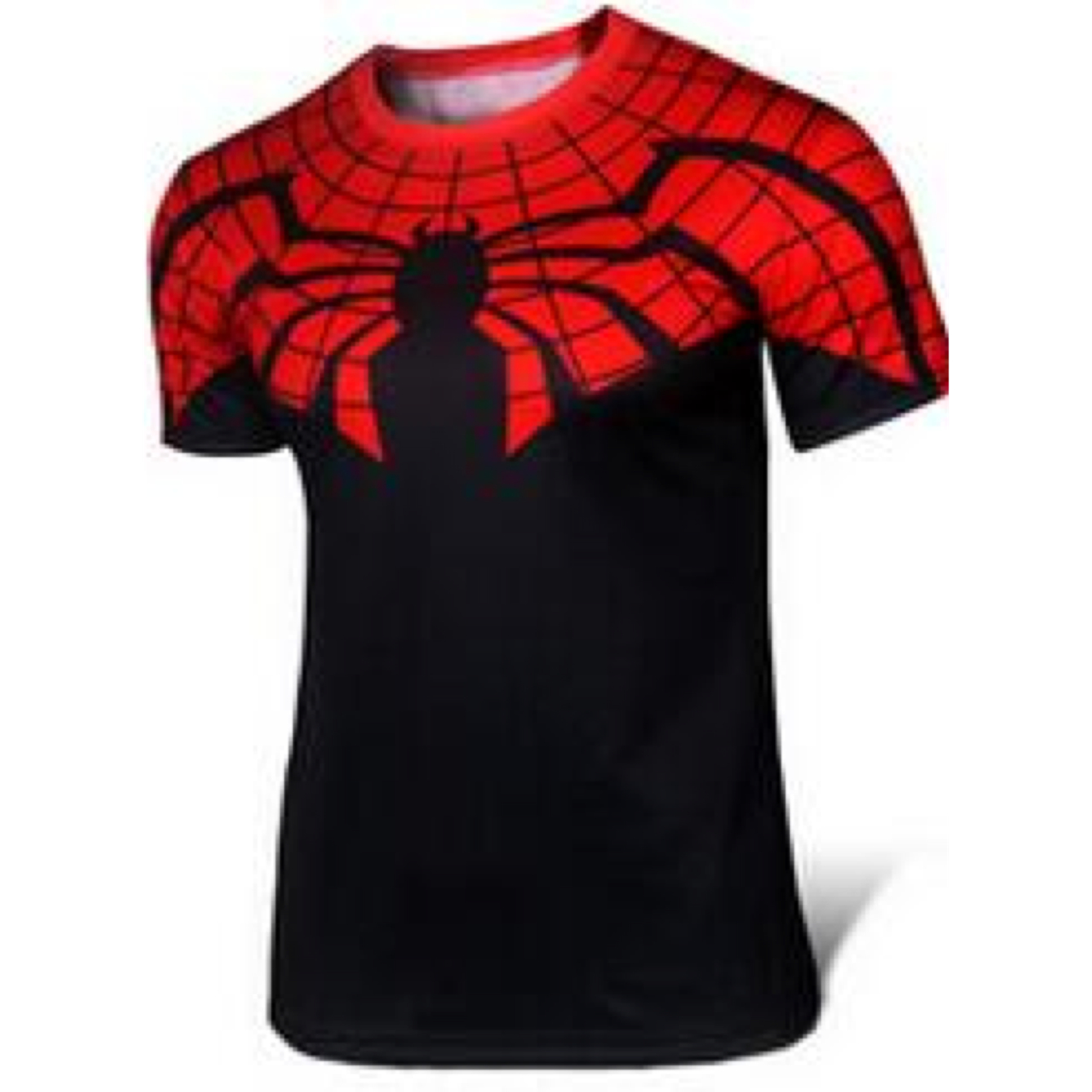 kaos superhero spiderman black and redKaos Superhero Spiderman Black and Red Dewasa