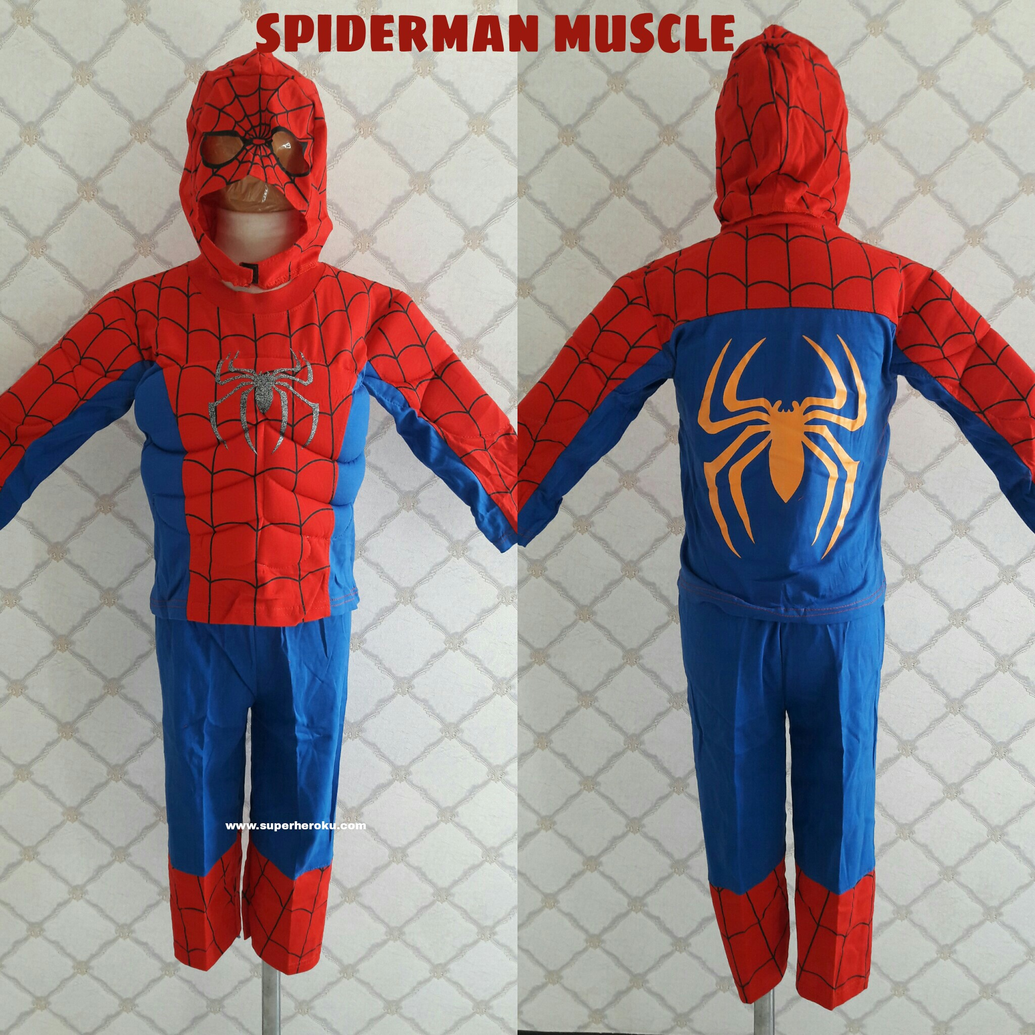 Kostum Anak Spiderman Muscle Otot